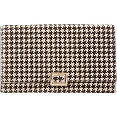 Pre-owned Roger Vivier Ponyhair Houndstooth Wallet (€115) ❤ liked on Polyvore featuring bags, wallets, black, turn lock wallet, calf hair bag, hardware bag, roger vivier bag and turnlock wallet
