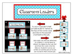 """Encourage your students to become leaders using these  printable cards that can be used to organize your student helpers. Can be used in a pocket chart or hung on a ribbon. Please do not hesitate to contact me to request custom job cards, colors or patterns!Includes approximately 45 common classroom jobs, blank cards,  labels for """"Classroom Leadership Jobs"""" or """"Our Classroom Jobs""""..**Also available in chalkboard, white washed wood, chevron pattern, polka dots, zebra print, Smores/Camping…"""