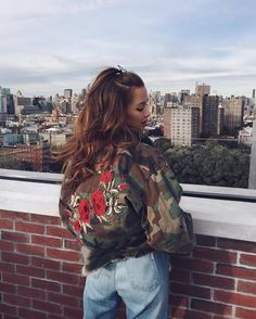 Jacket: tumblr embroidered embroidered camouflage oversized oversized denim jeans blue jeans roses