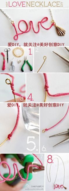Wrap embroidery floss around craft wire to shape a word, name, shape