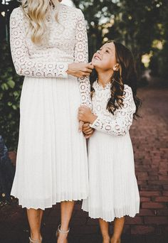 chin up, little one. mommy and me matching dresses by ivycityco.com