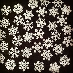 Snowflakes hama beads by lillafruk