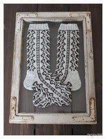 Megetar: Sydänpolku -kirjoneulesukat Fair Isle Knitting, Stockings, Crochet, Accessories, Socks, Crochet Hooks, Pantyhose Legs, Sock, Crocheting