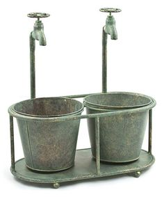Another great find on #zulily! Oblong Faucet Metal Double-Planter by Willow Group #zulilyfinds