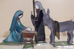3D vidrieras Natividad por SaltAndLightArts en Etsy