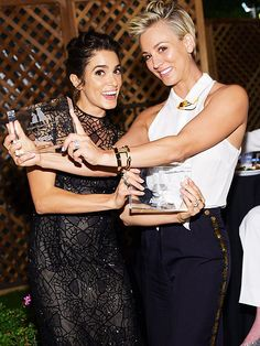 Congrats, ladies! Animal lovers Nikki Reed and Kaley Cuoco-Sweeting are honored with ASPCA Compassion Awards on Wednesday night Oct 22, 2014 in Los Angeles for their pet rescue work.