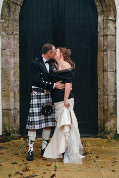 #tweedweddingdress #woolweddingdress #mixedweddingdress #autumn #corsettop Photos by http://www.zoecampbellphotography.com/
