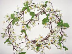 White Artificial Apple Blossom Garland