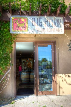 Front view of Big Horn Olive Oil Company ~ This is where Veronica gets her extremely good olive oil! It is local in Reno (even though has online store). Must go soon! slp