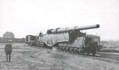 "German 28 cm railway gun ""28-cm K5 (E)"", ""Leopold"" it ""Schlanke Bertha"",it's ""Anzio Annie"" (the allies)."