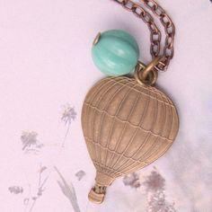 a hot air balloon necklace