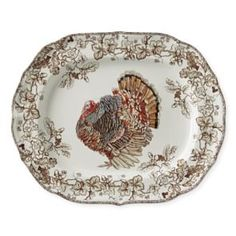 Williams Sonoma offers dinnerware and glassware for Thanksgiving entertaining. Find Thanksgiving serving dishes that add a festive touch to any table. Thanksgiving Table Settings, Thanksgiving Decorations, Vintage Thanksgiving, Thanksgiving Menu, Turkey Plates, Whole Turkey, Serving Platters, Dinner Plates, Dinner Table