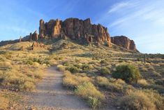 Photo about Evening view of a hiking trail in Superstition Mountains near Phoenix, Arizona. Image of scenic, superstition, arizona - 19722401 Goldfield Ghost Town, Litchfield Park, Superstition Mountains, Greatest Mysteries, Vacation Deals, Native American Tribes, Hiking Trails, The Ordinary, State Parks