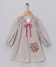 Take a look at this Taupe Mini Stripe Shift Dress - Toddler & Girls by Buckleberry Kids on #zulily today!
