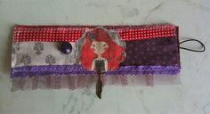Fabric Cuff Cherry Poline by ThecloudofAlias on Etsy, $26.00