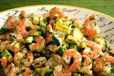 Shrimp Salad with Lime Vinaigrette by sauceandsensibility #Salad #Shrimp