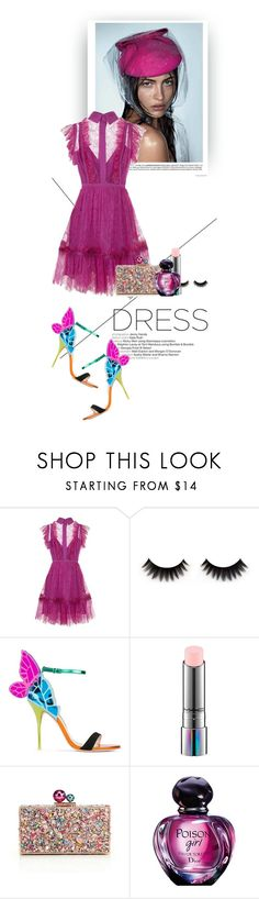 """DREAMY PINK"" by gizaboudib ❤ liked on Polyvore featuring Elie Saab, Sophia Webster, MAC Cosmetics and dreamydresses"