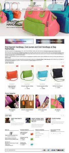 Bag Fashionista, Minimal website design by diseñoideas marbella web designers