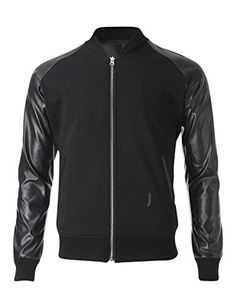 FLATSEVEN Mens Two Tone Varsity Bomber Baseball Jacket with Faux Leather Sleeve (VSJ302) Black, L FLATSEVEN http://www.amazon.com/dp/B00ORRLX1M/ref=cm_sw_r_pi_dp_Mwe1ub1CWVMDD