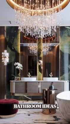 Luxury Interior Design, Interior Design Inspiration, Interior Design Living Room, Vanity Design, Bathroom Design Luxury, Small Apartment Decorating, Luxury Apartments, Luxury Hotels, Interiores Design