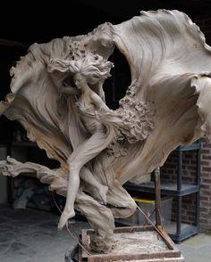Greek Statues, Renaissance Art, Aesthetic Art, Art And Architecture, Oeuvre D'art, Art Inspo, Amazing Art, Fantasy Art, Sculpting
