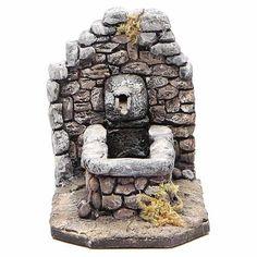 Fontana in resina tipo roccia per presepe 11x16x8 cm   vendita online su HOLYART Fake Stone, Fimo Clay, Xmas, Christmas, Wells, Decoupage, Craft Projects, Waterfall, Rocks