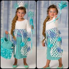 Snow Princess Dress with Free Pattern