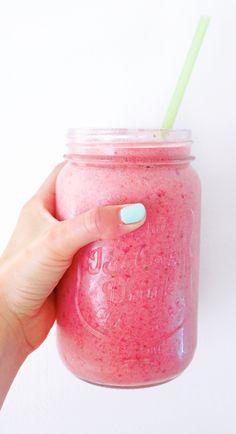 Pink Flamingo Smoothie Recipe. Bright and delicious!