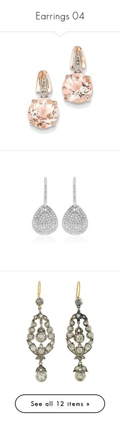 """Earrings 04"" by kimmeke-sascha ❤ liked on Polyvore featuring jewelry, earrings, brinco, accessories, bijoux, rose gold diamond earrings, 14 karat gold earrings, dangle diamond earrings, rose gold jewelry and 14k earrings"