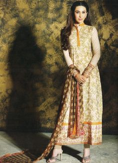 Cream #Pakistani #Suit By Faraaz Mannan