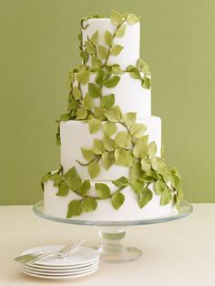 Leafy green....could change leaf colors for a fall wedding