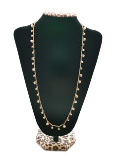 this beaded necklace is perfect for layering up or wearing by itself for a simple look!
