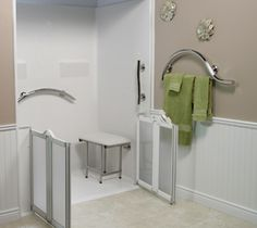 ADA Showers For Handicap Accessibility. Roll In Showers For Commercial U0026  Public ADA Compliant Bathrooms. Get A Free Shower Quote Now