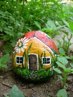 Great idea! Paint a rock for your fairy garden!