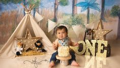 Greyson | Where the Wild Things Are | Meriden, CT Smash Cake Photographer