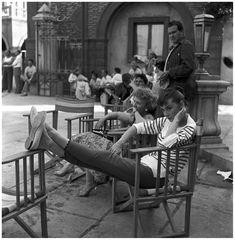 Audrey Hepburn on the set of the movie War and Peace, 1955 Pierluigi Praturton