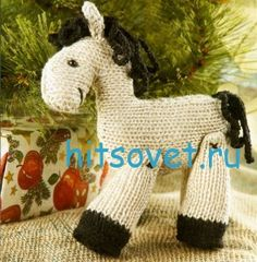 Knitted horse Owl Knitting Pattern, Knitting Yarn, Baby Knitting, Crochet Toys, Knit Crochet, Yarn Crafts, Diy Crafts, Knitting Projects, Knitting Ideas