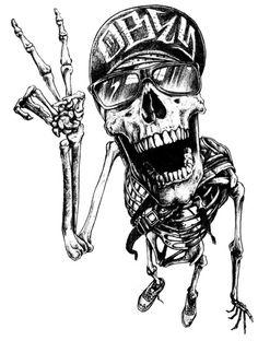 Skull Portraits by Joe King Tattoo Drawings, Art Drawings, Dessin Old School, Tattoo Magazine, Tattoo Studio, Skull Artwork, Skull Tattoos, Skull And Bones, Dark Art