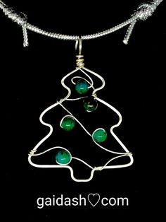 Wire Ornaments, Beaded Christmas Ornaments, Christmas Jewelry, Christmas Crafts, Xmas, Wire Jewelry Designs, Jewelry Patterns, Beaded Crafts, Jewelry Crafts