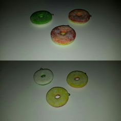 Apple ring and peach rings of polymer clay  inspired by coolricebunnies #handmade