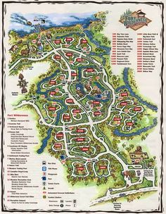 The Fort Wilderness Campground area can be confusing. If you're planning a stay there, you'll want to check out this Annotated Map of Disney's Fort Wilderness Resort Disney Map, Disney World Vacation, Disney Vacations, Disney Trips, Walt Disney, Disney 2015, Disney Travel, Disney Stuff, Vacation Club