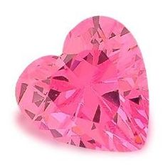 Pink Diamond Shaped Heart