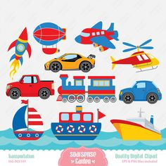 Transportation Digital Clipart