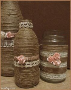 DIY Yarn Jars diy crafts craft ideas easy crafts diy ideas diy idea diy home diy vase easy diy for the home crafty decor home ideas diy decorations