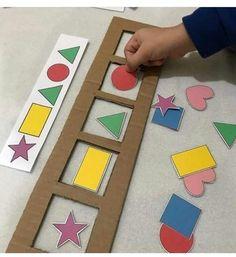 1.jpg 563×614 pixels Shape Activities For Preschoolers, Colour Activities For Toddlers, Visual Motor Activities, Sequencing Activities, Montessori Activities, Classroom Activities, Infant Activities, Shapes For Kindergarten, Preschool Learning