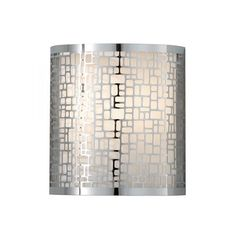 Feiss Joplin W Chrome Modern/Contemporary Wall Sconce at Lowe's. The Feiss Joplin one light wall sconce in chrome provides abundant light for your bath vanity, while adding a layer of today's style to your interior Modern Wall Lights, Modern Wall Sconces, Crystal Wall, Geometric Wall, Geometric Patterns, Ceiling Rose, Drum Shade, Wall Sconce Lighting, Decoration