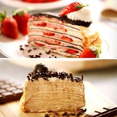 Mille crepes are the best cakes out there!! Having a hazelnut one now omnomnomnom =u=