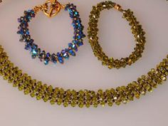 Crystal Splendor bracelet and matching necklace Pattern