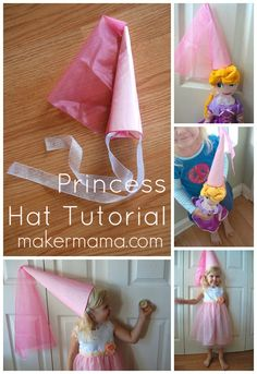 Just in time for #Halloween and birthday parties, a #princess hat tutorial!