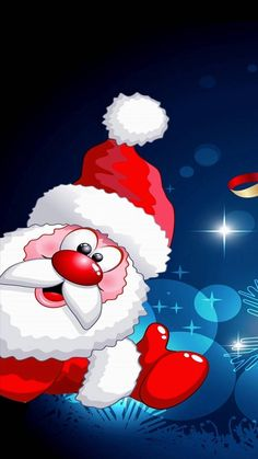 Surprised santa wallpaper by floradam - 14 - Free on ZEDGE™ Happy Christmas Day, Christmas Scenery, Merry Christmas Everyone, Christmas Hat, Christmas Clipart, Christmas Cards, Christmas Decorations, Winter Wallpaper, Holiday Wallpaper